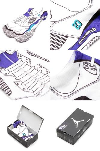 Air Jordan Retro V (5) Grapes Sublimated Bootie Socks