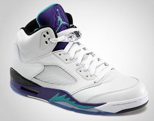 """outlet store 9d38a fef80 Air Jordan Retro 5 """"Grape"""" Release Details"""