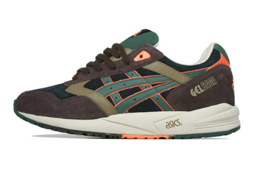 Asics Gel Saga  Brown Dark Green-Orange   2425bc5f45ce