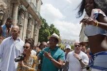 Celebrity Sneaker Watch: Jay-Z Wears Nike Air Force 180 High in Cuba Alongside Bey