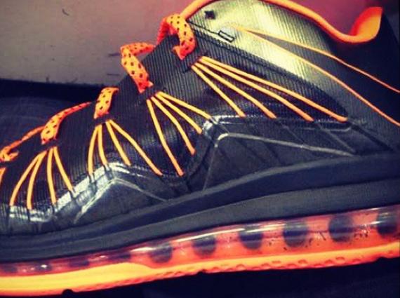 First Look Black Orange Nike LeBron X Low