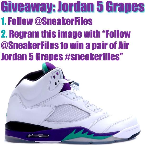 Giveaway: Air Jordan 5 Grapes 2013