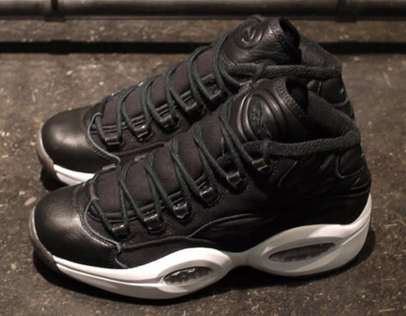 Image Update Reebok Question Mid Black Canvas