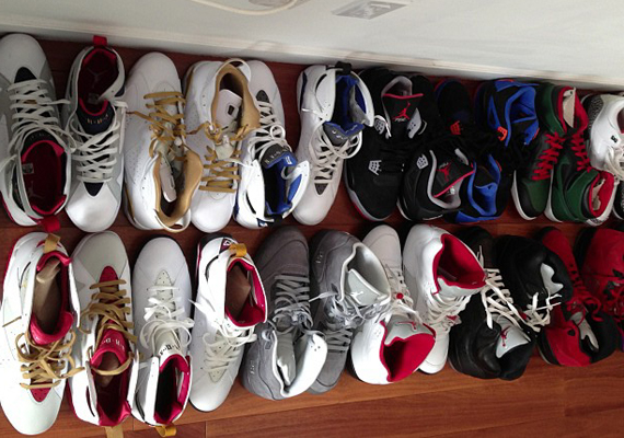 Kenyon Martin Shows Off His Air Jordan Collection