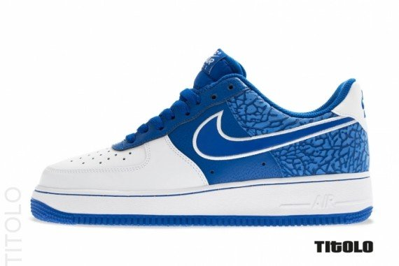 Nike Air Force 1 Low White And Blue