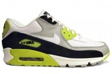Nike Air Max 90 Premium 'Strata Grey/White-Black-Cyber Yellow'