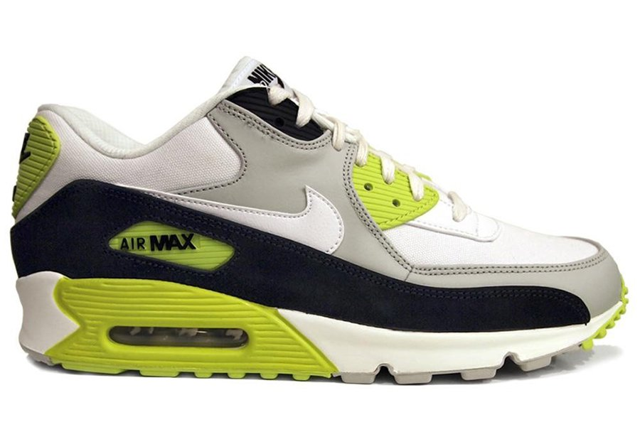 Nike Air Max 90 Premium  Strata Grey White-Black-Cyber Yellow ... 7d13be4ab