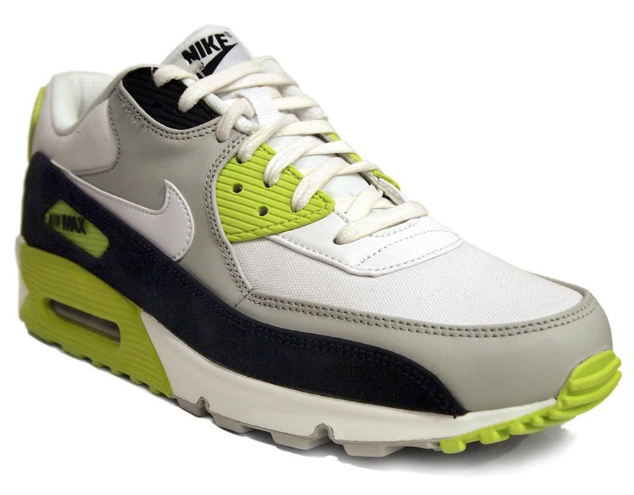 Nike Air Max 90 White Yellow Black .