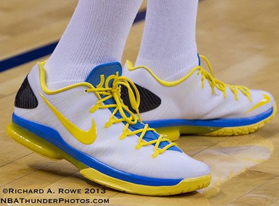 Nike KD V Elite PE White Blue Yellow