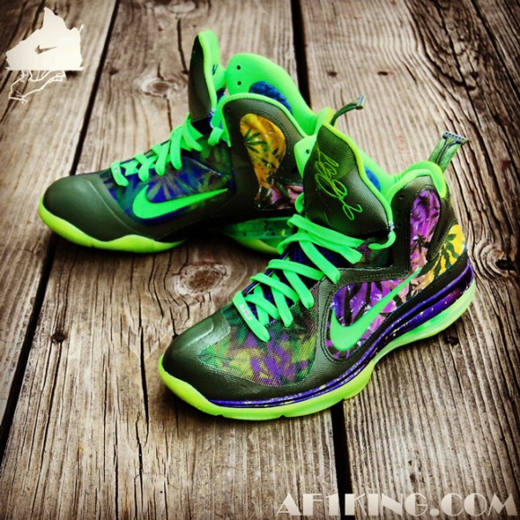 Nike LeBron 9 420 Customs by GourmetKickz