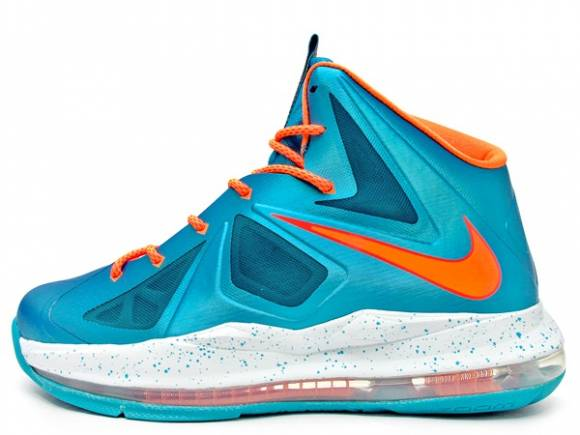 Nike Lebron X 10 GS Bright Citrus Turquoise