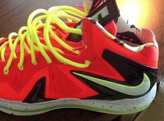 Nike LeBron X Elite Infrared Volt