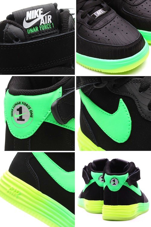 Nike Lunar Force 1 Leather Poison Green Black