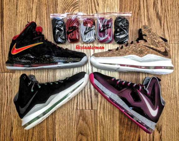 8f2ceb7c2236 Nike X  Miami Heat  Black Suede PE LeBron