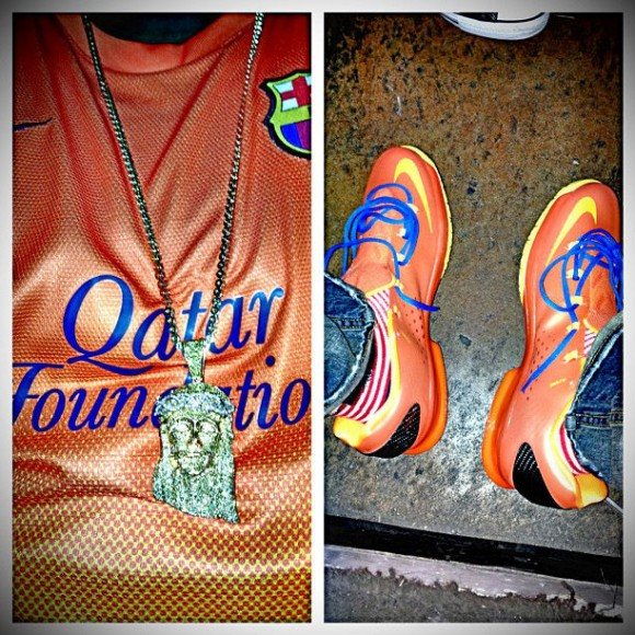 Orange Nike KD V Elite