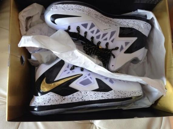 Release Info White Metallic Gold Black Nike LeBron X Elite+