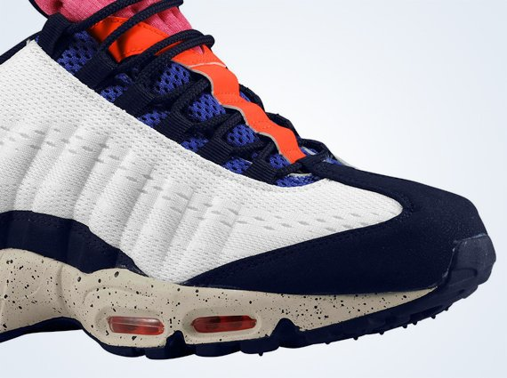 Wmns Nike Air Max 95 EM White Blue Orange