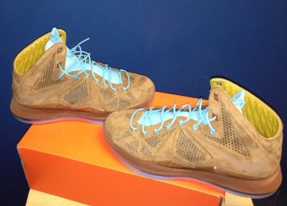 Release Update Nike LeBron X Brown Suede Hazelnut