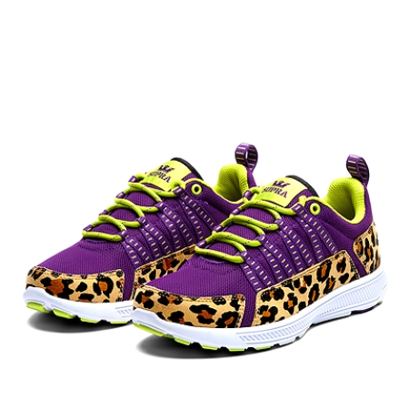 Supra Womens Owen Low Purple Cheetah