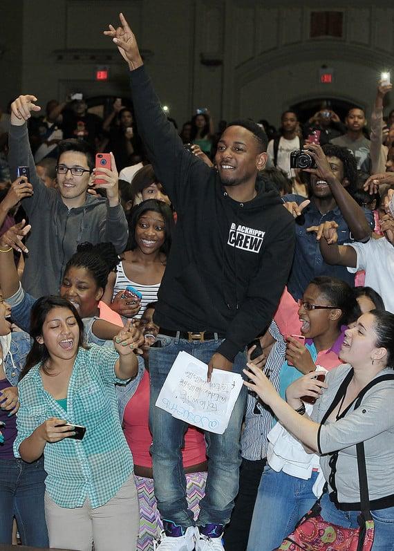 Kendrick Lamar In Air Jordan V 5 Grape