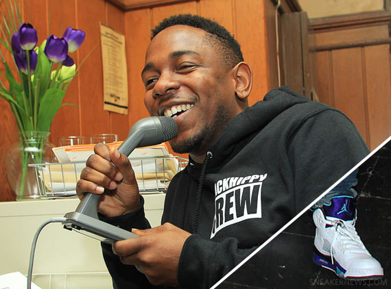 Kendrick Lamar In Air Jordan V 5 Grape