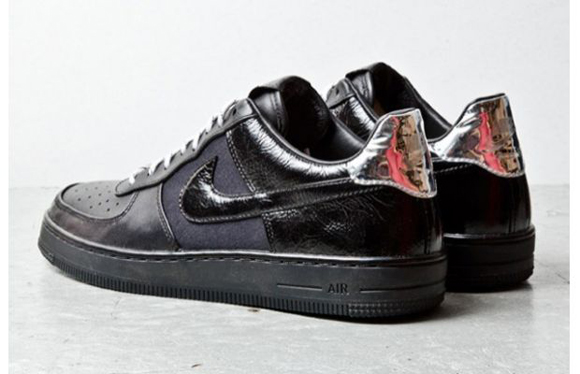 Nike Air Force 1 Downtown Black Leather 2