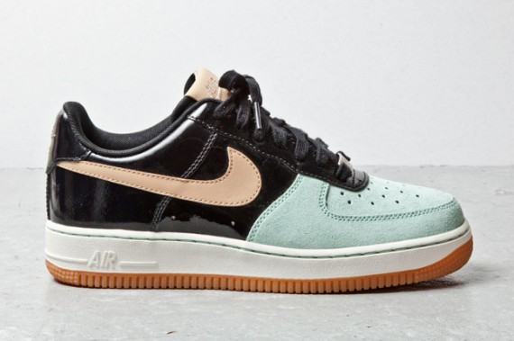 Nike Air Force 1 Low Black Patent Tan Mint 3