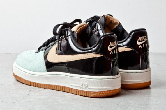 Nike Air Force 1 Low Black Patent Tan Mint 4