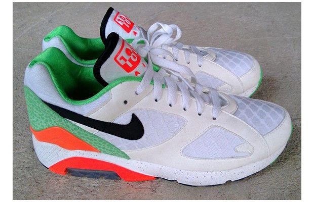 Nike Air Max 180 White Orange Green Safari