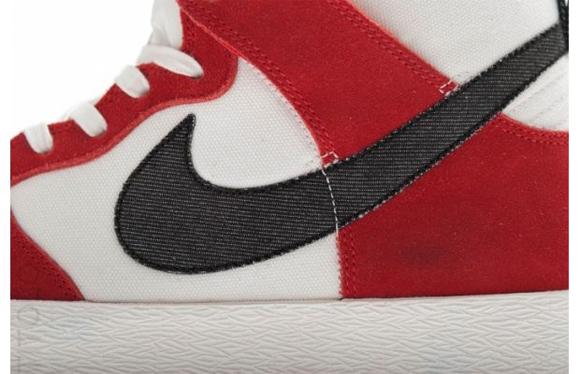 Nike Dunk High AC Sail Black University Red 2