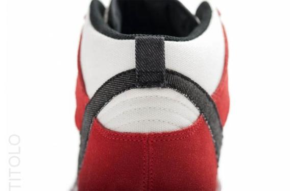 Nike Dunk High AC Sail Black University Red 3