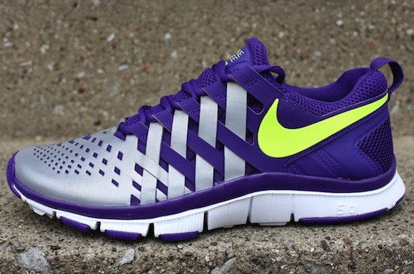 Nike Free Trainer 50 NRG Court Purple Volt w Reflective Silver
