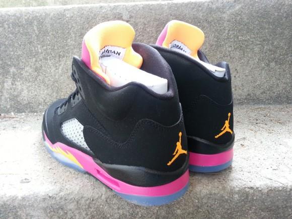 Air Jordan 5 Retro GS Black Bright Citrus Fusion Pink Detailed Pics
