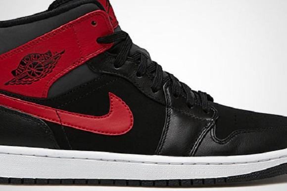11e158b0c91b Air Jordan I 1 Mid Black Gym Red Anthracite First Look cheap ...