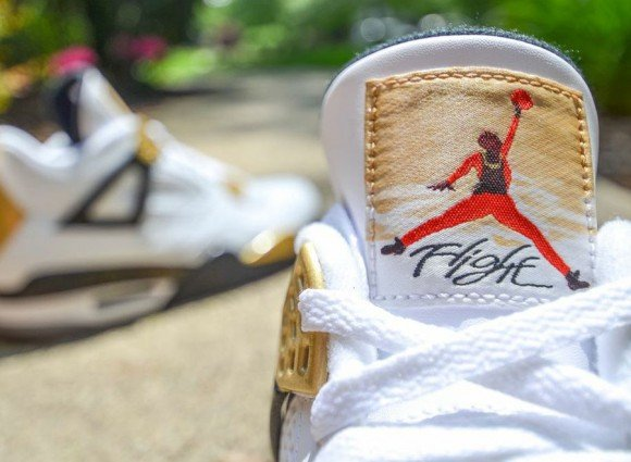 Air Jordan IV Gold Digger Customs by DMC Kicks