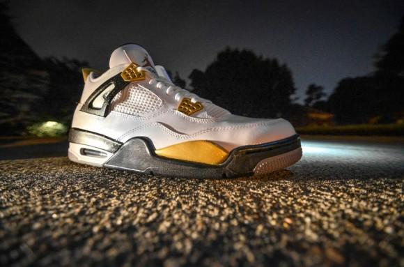 Air Jordan IV Gold Digger Customs by DMC Kicks