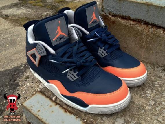 Air Jordan IV Salmon Toe by DeJesus Customs