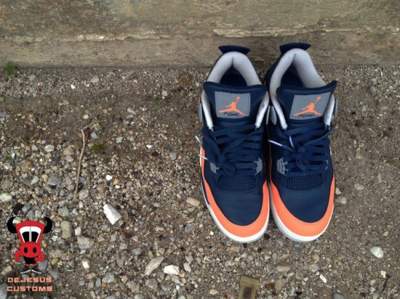 sneakers for cheap 4554a 9993d Air Jordan IV Salmon Toe by DeJesus Customs