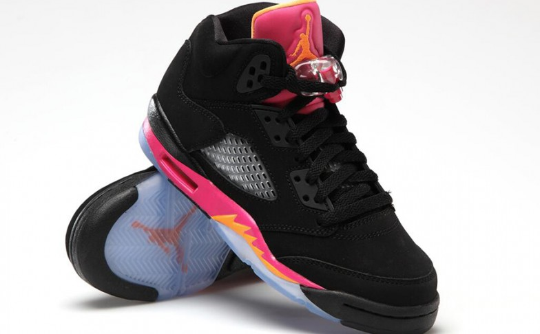 air-jordan-v-5-gs-black-bright-citrus-fusion-pink
