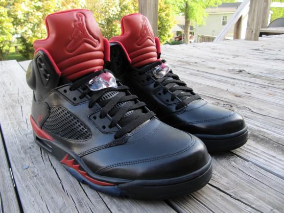 Air Jordan V Infrared Smoke Bottom Customs by Cali Kid Drew