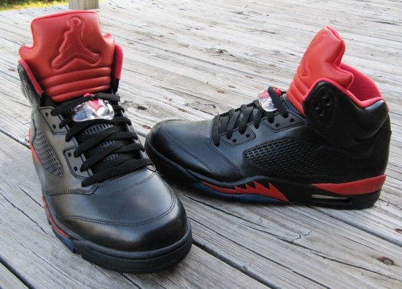 Air Jordan V Infrared Smoke Bottom Customs by Cali Kid Drew