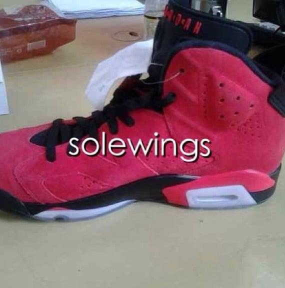 Air Jordan VI Red Suede Sample
