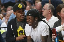 "Celebrity Sneaker Watch: Lil' Wayne Wears ""Fire Red"" Air Jordan Retro V (5)"
