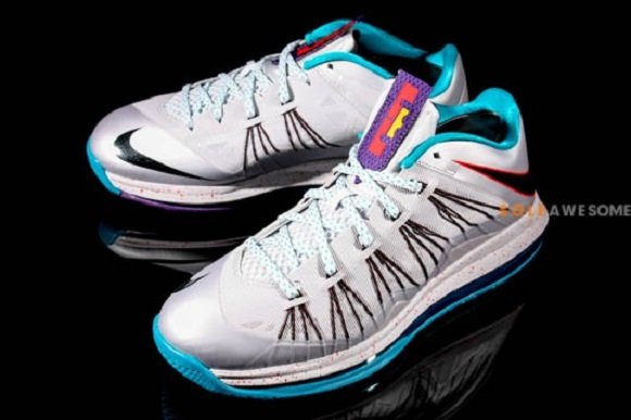 Detailed Look Nike LeBron X Low Summit Lake Hornets