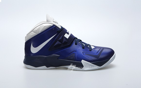 Detailed Look Nike Lebron Zoom Soldier VII Deep Royal Pure Platinum Navy  Sample