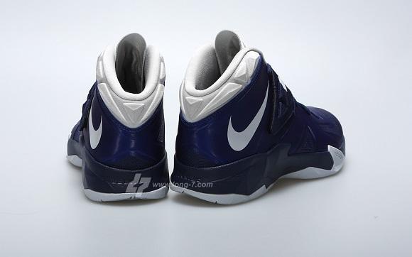 Detailed Look Nike Lebron Zoom Soldier VII Deep Royal Pure Platinum Navy Sample