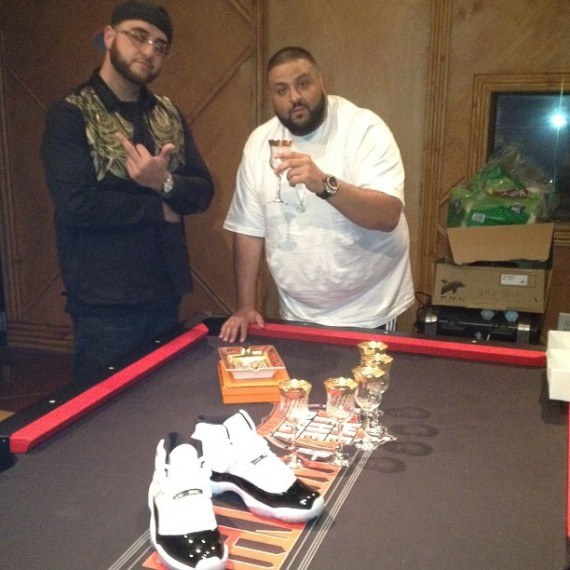 DJ Khaled Shows Off Air Jordan XI Concord 45 Sample