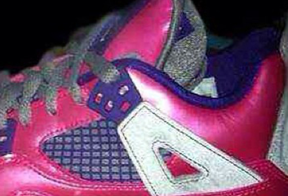 First Look Pink Purple Air Jordan IV GS