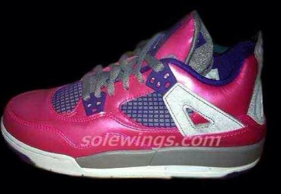 First Look Pink Purple Air Jordan IV GS