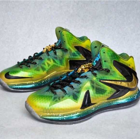 Grand Hustle Nike LeBron X Elite Customs for TI by Kickasso Kustoms